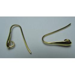 Monachella a Goccia in  Argento 925  Rodiato Dorato 18 mm   - 2 pz