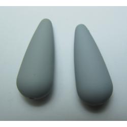 Goccia Resina Satinata 33x13 mm Grigio - 1 pz