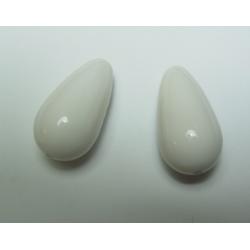 Goccia Resina  28x15 mm White-Ivory  -  1 pz