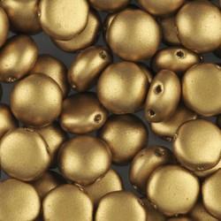 Candy Beads  8  mm Matte Metallic Aztec Gold   - 20 pcs