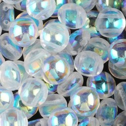 Candy Beads 12 mm Crystal AB - 10 pcs