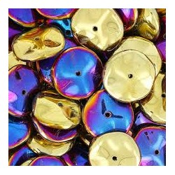 Ripple Beads  12  mm  Crystal California Violet    - 10 pcs