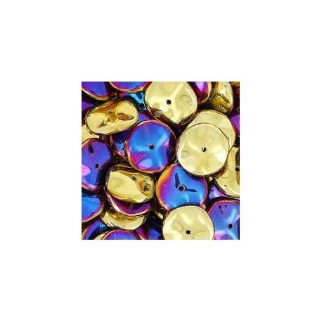Ripple Beads 12 mm Crystal California Violet - 10 pcs