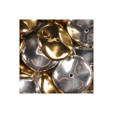 Ripple Beads 12 mm Crystal California Silver - 10 pcs