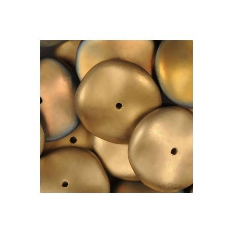 Ripple Beads 12 mm Crystal California Sunshine Mat - 10 pcs