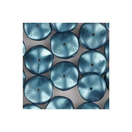 Ripple Beads 12 mm Pastel Petrol - 10 pcs