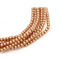 Perle Cerate in Vetro  4 mm Tawny Satin  - 50  Pz