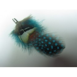 Feather 70 mm Light Blue/Brown - 1 pc