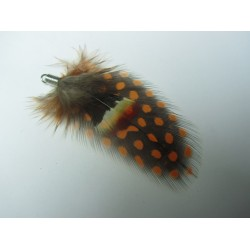 Feather  70  mm Red/Brown  - 1 pc