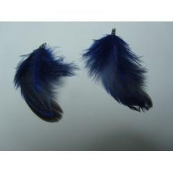 Feather  4-5  cm Blue/Black  - 1 pc