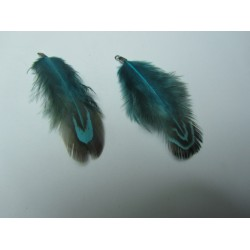 Feather 4-5 cm Blue/Black - 1 pc