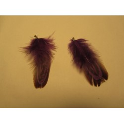 Feather 4-5 cm Purple/Brown - 1 pc