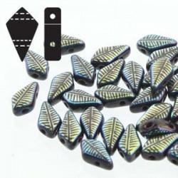 Kite Beads  9 x 5 mm  Light Gold  Mat  - 5 g