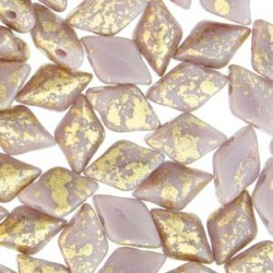 GemDuo  8 x 5 mm Gold  Splash Purple Opaque  - 5 g