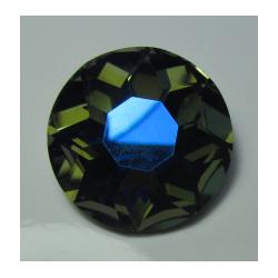 Round Glass  Cabochon  27 mm Dark Olive Green   AB  - 1 pc