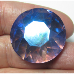 Round Glass  Cabochon  27 mm Light -Amethyst AB  - 1 pc