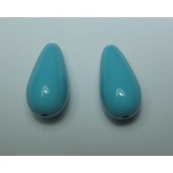 Goccia Resina  Lucide 23x11 mm  Turquoise Blue -  2 pz
