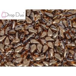 DropDuo 3 x 6 mm  Crystal Capri Gold  Full   -  40 Pz