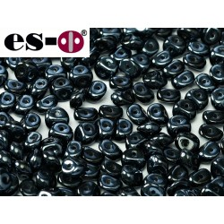 Es-O Beads 5 mm Jet  Blue Hematite Full  - 5 g
