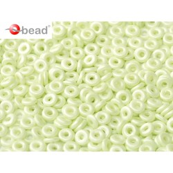 O Bead  4 mm Pastel  Green  - 5  g