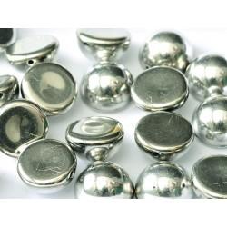 Dome Beads 12x7 mm Jet Labrador Full  - 5 pcs