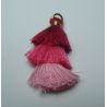 3 Layer Tassel  4  cm  Fuchsia/Pink Shade    - 1 pc