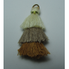 3 Layer Tassel  4  cm  Cream/Beige/Mustard   - 1 pc