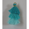 3 Layer Tassel  4  cm  Turquoise Green/Aqua  Shades - 1 pc