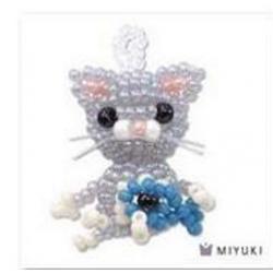 Kit Miyuki Mascotte Gatto   (kit materiali)  - 1 pz