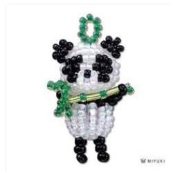 Miyuki Mascotte Kit Panda (material kit) - 1 pz