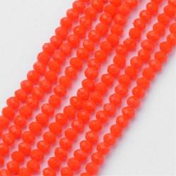 Rondelle Sfaccettate in Vetro 3 x 2  mm  Orange  - 1 Filo da circa 38 cm