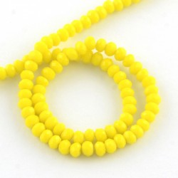 Rondelle Sfaccettate in Vetro 3 x 2  mm Yellow  - 1 Filo da circa 38 cm