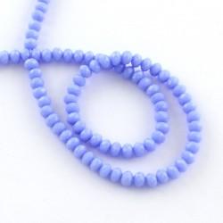 Rondelle Sfaccettate in Vetro 3 x 2  mm Lavender - 1 Filo da circa 38 cm