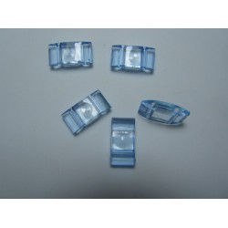 Carrier Beads in Acrilico 17x9x5  mm,  Doppio Foro,  Transp. Light Sapphire - 10 pz