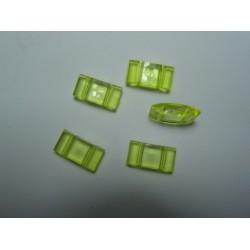Carrier Beads in Acrilico 17x9x5  mm,  Doppio Foro,  Transp. Light Yellow - 10 pz