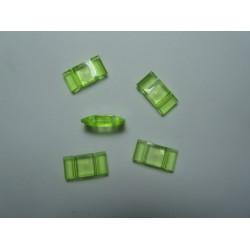 Carrier Beads in Acrilico 17x9x5  mm,  Doppio Foro,  Transp. Light Green - 10 pz