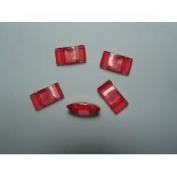 Carrier Beads in Acrilico 17x9x5  mm,  Doppio Foro,  Transp. Light Siam - 10 pz
