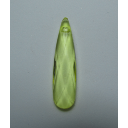 Acrylic Faceted Drop Pendant  35  x 9 mm  Transp.  Light Yellow    - 1  pc