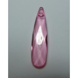 Pendente Goccia Acrilico Sfaccettato 35  x 9 mm Transp Light Rose - 1 pz