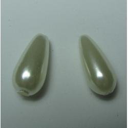 Goccia Abs  17x8 mm Ivory  -   2 pz