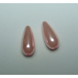 Goccia Abs  17x8 mm Light Pink  -   2 pz