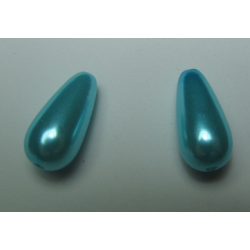 Abs  Drops  17x8 mm  Aquamarine   - 2 pcs