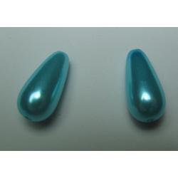 Goccia Abs  17x8 mm Aquamarine  -   2 pz