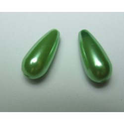 Abs  Drops  17x8 mm  Light Green   - 2 pcs