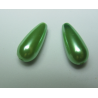 Goccia Abs 17x8 mm Light Green - 2 pz