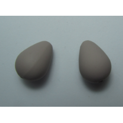 Resin Drop Mat Effect 16x11 mm Grey/Beige - 2 pcs