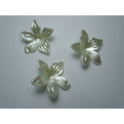 Perle a Fiore  in Acrilico  29  mm Ivory Pearl  - 5  pz