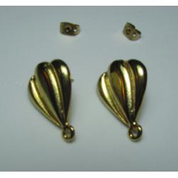 Perno in Zama  Stile  Mongolfiera   22 x 16 mm  Color Oro/Bronzo Lucido   -   2 pz