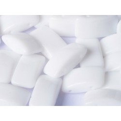 Carrier Beads 17 x 9 mm  Chalk White  -  5  pcs