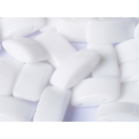 Carrier Beads 17 x 9 mm  Chalk White  -  5 pz